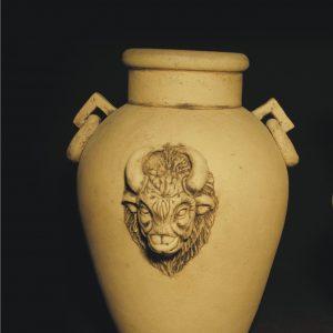 Большой вазон Амфора №3 (декор)