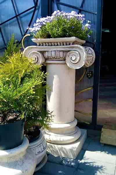 Большое кашпо в виде колоны - Антика №1