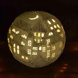 Садовый светильник Город (авторский)