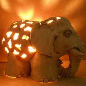 Садовый светильник Слон