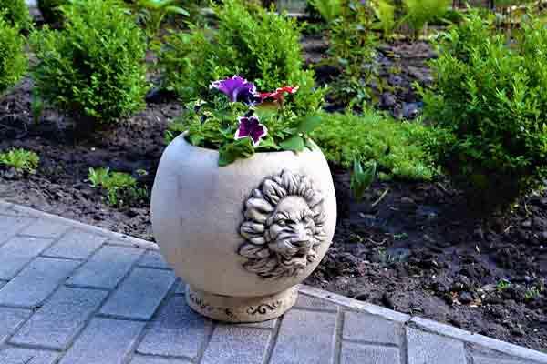 Керамический горшок для цветов Арон (декор)