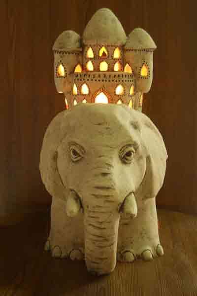 Светильник Слон с домом (Б)
