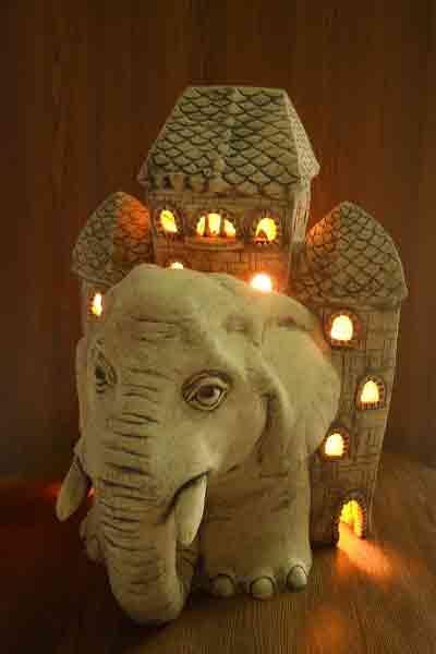 Светильник Слон с домом (А)