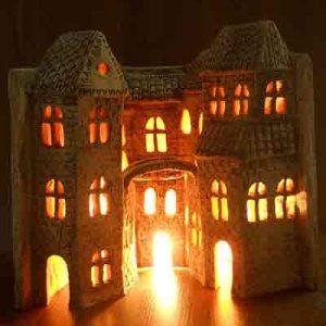 Светильник в виде книги с домом №1