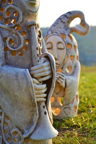 Скульптура авторская из шамота
