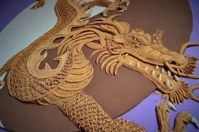 """Большое панно """"Китайский дракон"""""""