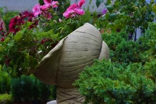 Кашпо для цветов ракушка