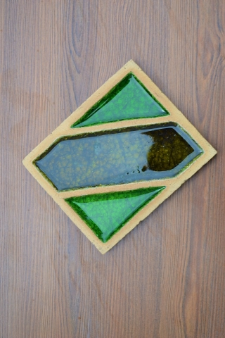 Шамотная плитка со стеклом