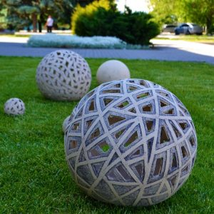 Садовый светильник шар-4 (прорезной)