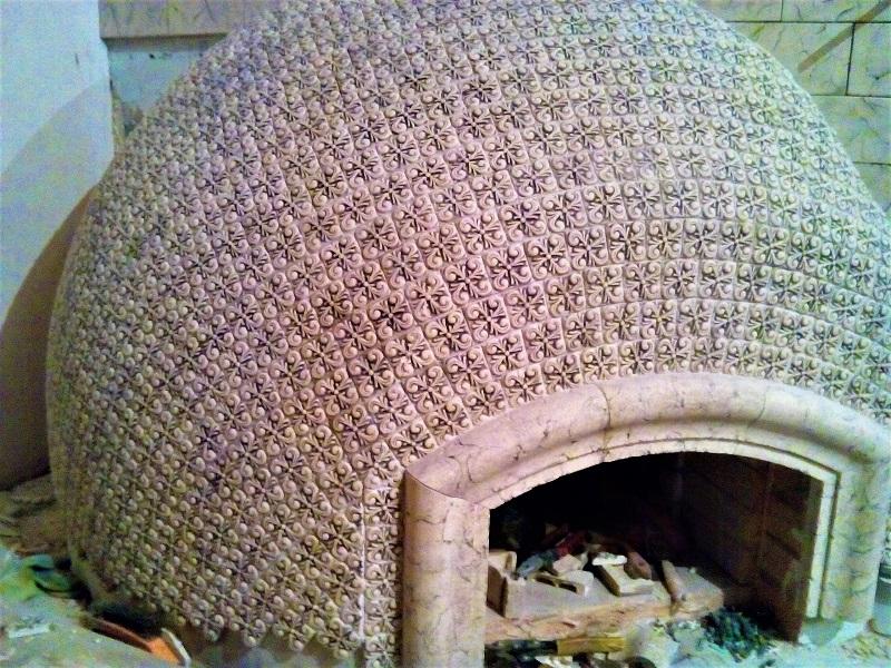 Плитка для помпейской печки