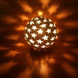 Садовый светильник Шар-3 (звёзды)