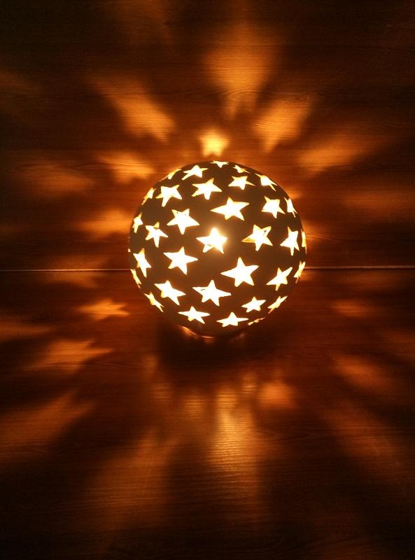 Садовый светильник Шар-3 (звёзды) 10
