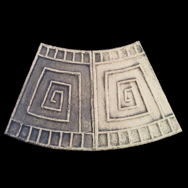 Фасадная плитка с меандром