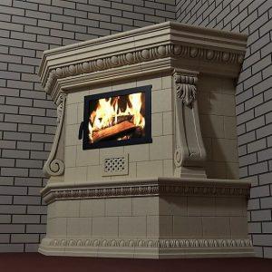 Угловой камин с консолямиа камина)