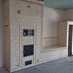Печь камин (облицовка в стиле минимализм)