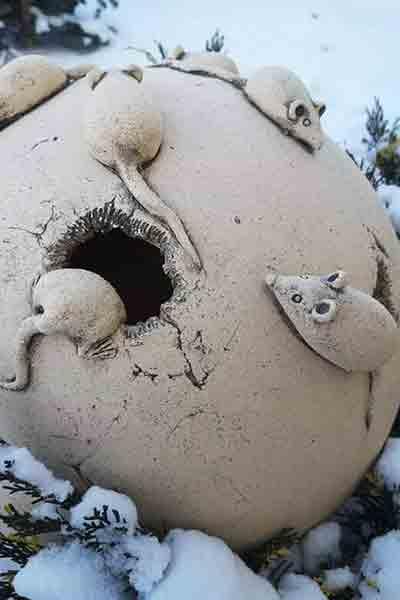 """Садовый светильник шар """"Мышки"""""""