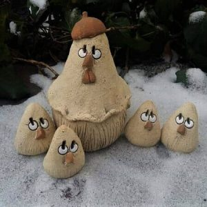 """Фигурки """"Квочка с цыплятами"""""""