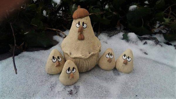 """Сувениры """"Квочка с цыплятами"""" 10"""