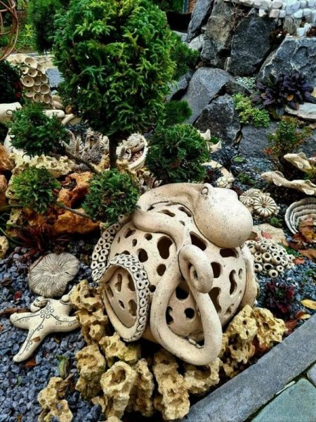 Садовый декор Шар осьминог